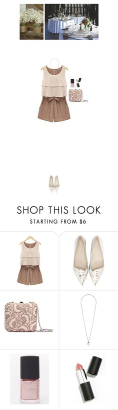 """Barn wedding"" by blueeyed-dreamer ❤ liked on Polyvore featuring Sophia Webster, Dorothy Perkins, Lane Bryant, Sigma Beauty, brown, romper, polyvorecontest and barnwedding"