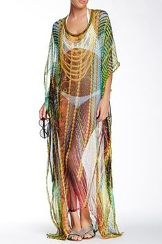 RAJ Long Silk Caftan