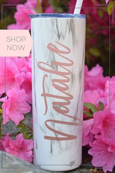 These beautiful tumblers are the perfect personalized bridesmaid gift! Give them as a wedding proposal gift, day of gift, or bachelorette party favor. High quality...they will keep her drink cold for hours, fit in her cupholder, and be loved and used for years! weddiing, wedding planning, bridal party gift ideas Monogrammed Bridesmaid Gifts, Bridesmaid Gifts Unique, Bridesmaid Gift Boxes, Be My Bridesmaid, Bridesmaid Makeup Bag, Bridesmaid Bracelet, Unique Gifts For Her, Gifts For Mom, Bridal Party Getting Ready