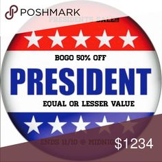Presidents Sale!!!! BOGO 50% OFF 👍👍💥👍👍💥👍👍💥👍👍 Accessories