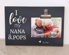 Personalized Pregnancy Reveal to Grandparents, Gift For Grandparents, Baby Announcement, Pregnancy Announcement {I LoVE MY. Baby Announcement Shoes, Grandparent Pregnancy Announcement, Gender Reveal Gifts, New Grandparents, Grandparent Gifts, New Baby Gifts, New Baby Products, Notes, Etsy
