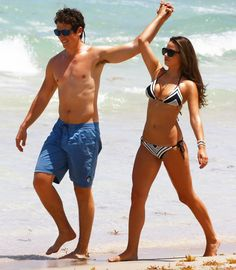 Photo of Miles Teller Heats Up Miami With Kisses and a Shirtless Stroll Miles Teller Girlfriend, Fantastic Four Actors, Keleigh Sperry, Miami Pictures, Romantic Couples, Girlfriends, Besties, Bikinis, Swimwear