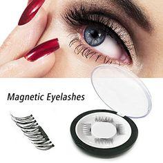 1083f487536 False Magnetic Eyelashes, 3D Reusable Fake Eyelashes for Nature Look, 0.2mm Ultra  Thin