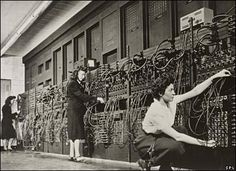 The first modern computer -- ENIAC -- February 14, 1946  holy crap