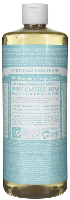 #SwitchToSafer Shampoo: Dr. Bronners Organic Pure Castile Liquid Soap | $10.99 (16 oz) | http://thehumanexperimentmovie.com/switch-to-safer/