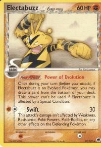 2006 Pokemon EX Dragon Frontiers Uncommon Card- Electabuzz #29