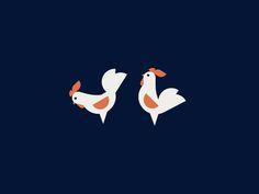 Roosters by Benjamin Garner #Design Popular #Dribbble #shots