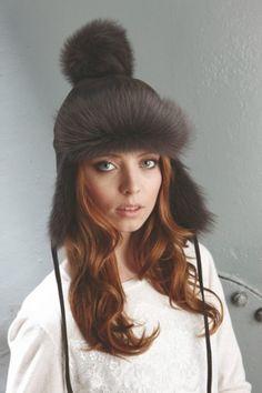 ae6bd3b76c5 Gushlow  amp  Cole AW13 Lookbook Toscana hat with pom-pom  sheepskin   shearling