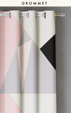 CURTAIN : PRISM©️️️️️️️️ // GREY - drop it MODERN - Modern and contemporary interior designed curtains for the studio and home. | #curtains #InteriorDesign #HomeDecor #bedroom #bathroom #kitchen #LivingRoom #designer #luxury #traditional #FarmHouse #MidCenturyModern