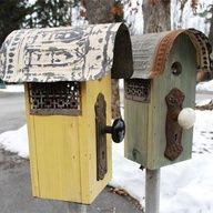 Bird Houses with cute door knobs