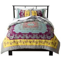 Target Lola Reversible Comforter Set Multicolor - Boho Boutique™ $50 full/queen