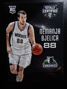2015-16 Panini Totally Certified #195 Nemanja Bjelica Rookie Timberwolves Card #MinnesotaTimberwolves