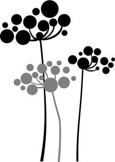 3 pc Blowing dandelions 2 colors- Vinyl Lettering removable wall words graphics Home decor itswritteninvinyl.