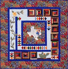 Texas Quilt Pattern ; got the pattern at the Dallas Quilt show; the center has a really cute verse.