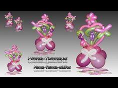 Balloon Art decoration heart flower, Ballon Dekoration Herz Blume Marienkäfer Modellierballon - YouTube