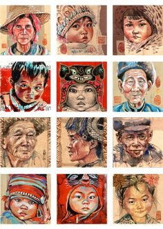 Set of 12 postcards China by StephanieLedouxArt on Etsy Travel Sketchbook, Artist Sketchbook, Ledoux, Acrylic Painting Lessons, Amazing Drawings, Ap Art, Black Women Art, Art Themes, Female Art