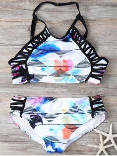 GET $50 NOW | Join RoseGal: Get YOUR $50 NOW!http://www.rosegal.com/bikinis/printed-high-neck-bikini-set-721918.html?seid=7528451rg721918