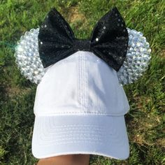 Disney inspired Minnie Mouse sparkly diamond ears / hat