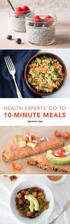 The 10-Minute Meals Top Health Experts Eat on Crazy Busy Days #10minutemeals #healthy #recipes