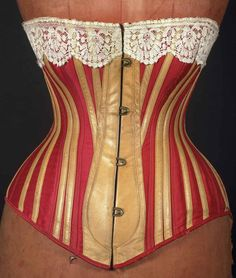 Corsets and Bustles from 1880-90 - the Move from Over-Structured Opulance to the 'Healthy Corset'