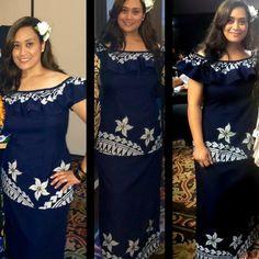 Contemporary Samoan Puletasi Dress Samoan Dress, Island Style Clothing, Dress Attire, Different Dresses, Jaba, Floral Maxi Dress, Dress Patterns, Pretty Dresses, African Fashion