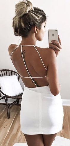 Sexy Back Little White Dress                                                                             Source