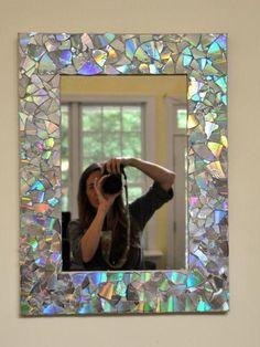 DIY mirror make from CDs