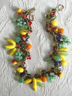 people wearing precious stone jewelry | Fruit Necklace - Unique Jewelry 9