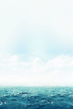 FREEIOS7 | ocean-green-sky-blue - parallax HD iPhone iPad wallpaper