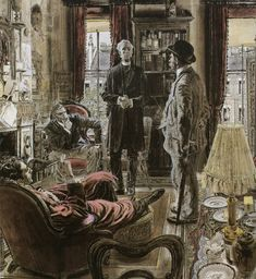 Sherlock Holmes ~ Illustration ~ Robert Fawcett