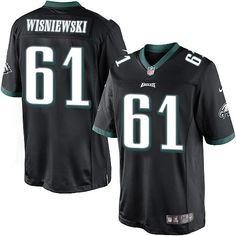 e75a3a809 Youth Nike Philadelphia Eagles #61 Stefen Wisniewski Limited Black  Alternate NFL Jersey