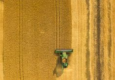 Hot Shots: Aerial Photo of a Farming Combine Harvesting Wheat by Marie Gardiner, A combine harvester in a wheat field doesn¡¯t sound very exciting, right? Let¡¯s take a look at why what could potentially be boring subject matter actually...