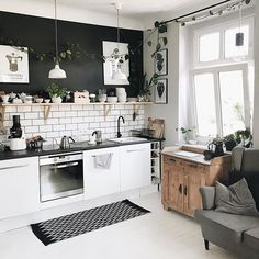 Home Interior Bohemian .Home Interior Bohemian Home Decor Kitchen, Kitchen Furniture, Kitchen Interior, Home Kitchens, Home Furniture, Design Kitchen, Furniture Cleaning, Furniture Stores, Luxury Furniture