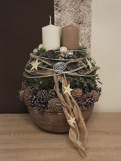 Adventskranz, Adventsgesteck Mehr You are in the right place about DIY Wreath ribbon Here we offer you the most beautiful pictures about the DIY Wreath garland you are looking for. When you examine th Christmas Advent Wreath, Rustic Christmas, Winter Christmas, Christmas Home, Christmas Crafts, Advent Wreaths, Christmas Tables, Nordic Christmas, Reindeer Christmas