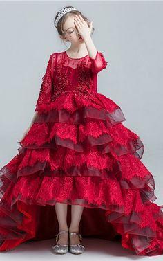 713a6428841 Shop for Handmade Flower Girls Dresses. Types Of DressesEmbroidery DressRed  ...