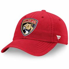 a8a61621d6f8a Men s Florida Panthers Red Fundamental Adjustable Hat