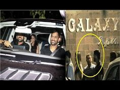 MS Dhoni with his wife Sakshi spotted late night at Salman Khan's House.