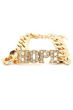 Golden Crystal Hope Bracelet | Emma Stine Jewelry Bracelets