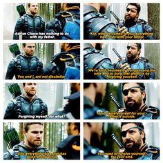 Arrow Oliver and Slade