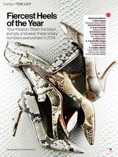 Richard Pierce | CA1 CA2 | Glamour - Fiercest Heels of the Year - January '14 | Follow us on Facebook (www.facebook.com/CA1CA2) and Twitter (www.twitter.com/CA1CA2) for more updates!