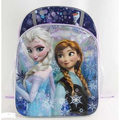 """Disney Frozen 16 inch Backpack - Snowflakes -  Global Design Concepts - Toys""""R""""Us"""