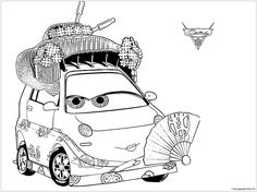 Disney Okuni For Kids Cars Coloring Page