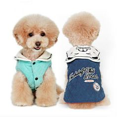 Free shipping pet Clothes Winter Warm Reversible Dog Jacket Designer cat Coats Pet Cotton Padded Reversible Apparels Vest T085