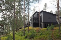 ASUNTOMESSUT 2017: MUSTAT MESSUTALOT Finland, Cabin, House Styles, Home, Decor, Decoration, Cabins, Ad Home, Cottage