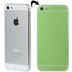 [USD27.35] [EUR24.86] [GBP19.29] Full Assembly Replacement Metal Housing Cover with Appearance Imitation of iPhone 6 & 6S for iPhone 5, Including Back Cover & Card Tray & Volume Control Key & Power Button & Mute Switch Vibrator Key, White Line(Green)