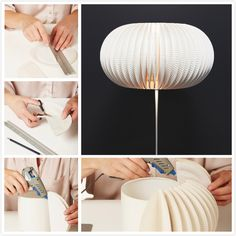 How to Make Beautiful Lamp from Paper Plates tutorial and instruction. Follow us: www.facebook.com/fabartdiy