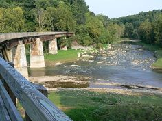 The Virginia Creeper Trail is a 34 mile rail trail that runs between Abingdon and Damascus, Va.