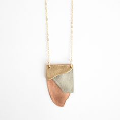 Image of Layered Metals Necklace - Large $80