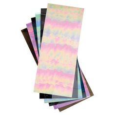 Elizabeth Craft Designs 124945 Iris Mylar Shimmer Sheetz 5 in. x 12 in. 3-Pkg-Black - Pack of 3