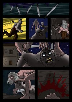 It's a Vampire!!! (page 22) by Gocce & Sejver #vampire #horror #comics #fantasy #action #blood ; published on www.komicbrew.com